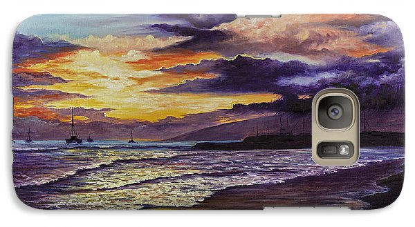Galaxy Case featuring the painting Kamehameha Iki Park Sunset by Darice Machel McGuire