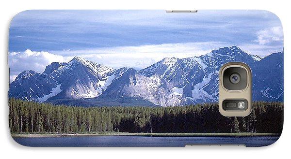 Galaxy Case featuring the photograph Kananaskis Mountains Lake by Jim Sauchyn
