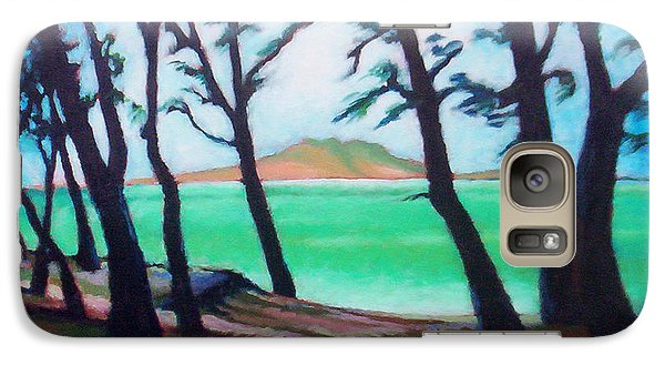 Galaxy Case featuring the painting Kaneohe Shade by Angela Treat Lyon