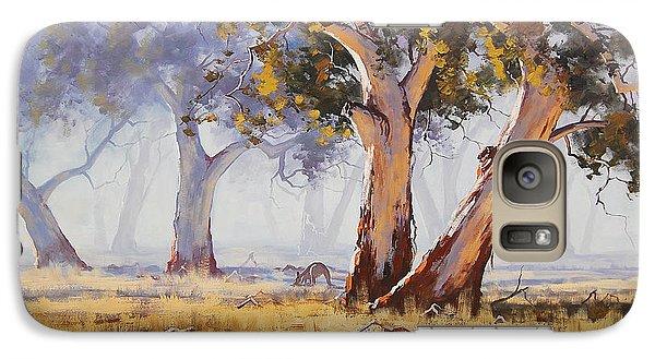 Kangaroo Galaxy S7 Case - Kangaroo Grazing by Graham Gercken