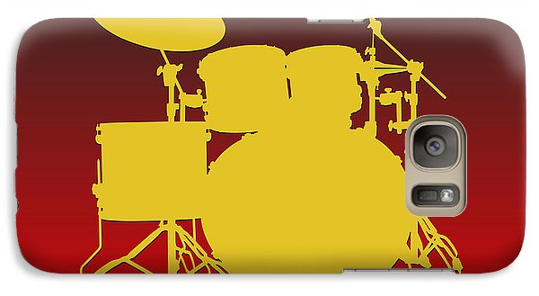 Kansas City Chiefs Drum Set Galaxy S7 Case by Joe Hamilton