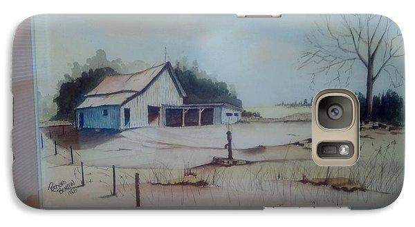 Galaxy Case featuring the painting Kansas Farm by Richard Benson