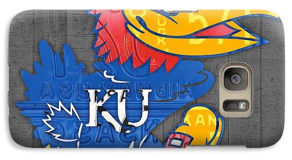 Kansas Jayhawks College Sports Team Retro Vintage Recycled License Plate Art Galaxy S7 Case