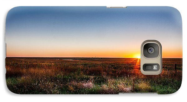 Galaxy Case featuring the photograph Kansas Sunrise by Jay Stockhaus