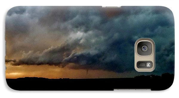 Galaxy Case featuring the photograph Kansas Tornado At Sunset by Ed Sweeney
