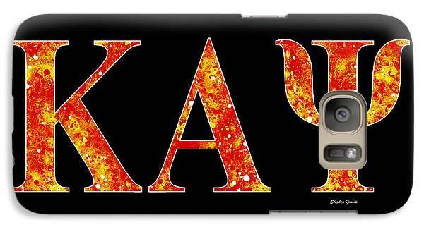 Galaxy Case featuring the digital art Kappa Alpha Psi - Black by Stephen Younts