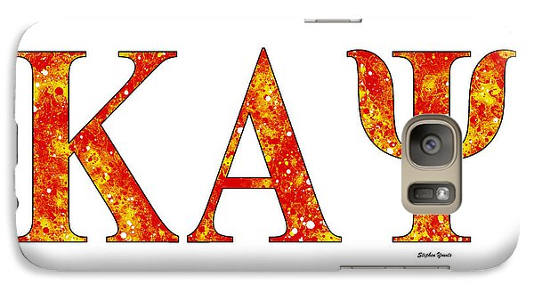 Galaxy Case featuring the digital art Kappa Alpha Psi - White by Stephen Younts