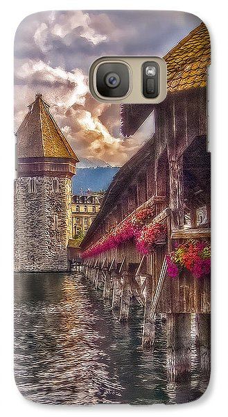 Galaxy Case featuring the photograph Kapellbruecke by Hanny Heim