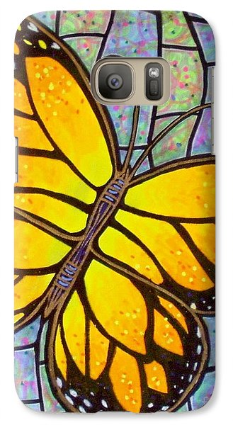 Galaxy Case featuring the painting Karens Butterfly by Jim Harris