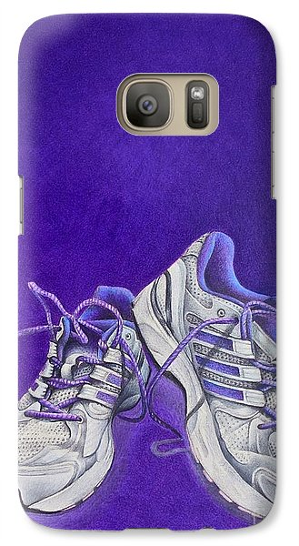 Galaxy Case featuring the painting Karen's Shoes by Pamela Clements