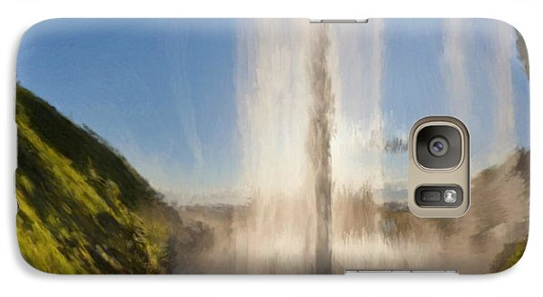 Galaxy Case featuring the painting Karen's Waterfalls by Bruce Nutting