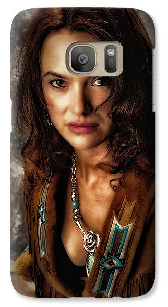 Galaxy Case featuring the photograph Karina - Indian Jacket ... by Chuck Caramella