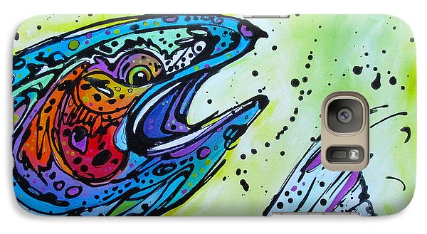 Galaxy Case featuring the painting Karl by Nicole Gaitan