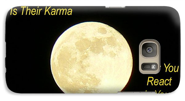 Galaxy Case featuring the photograph Karma by Lin Haring