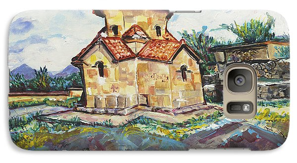 Galaxy Case featuring the painting Karmravor Church Vii Century Armenia by Helena Bebirian