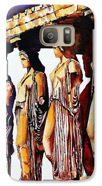 Galaxy Case featuring the painting Karyatides by Maria Barry