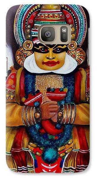 Galaxy Case featuring the painting kathakali.. Lord Shiva by Saranya Haridasan