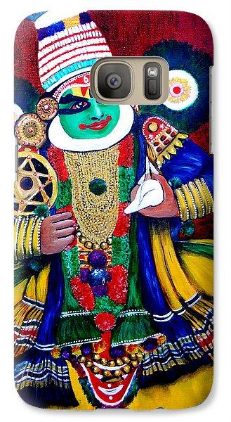 Galaxy Case featuring the painting Kathakali..lord Krishna by Saranya Haridasan