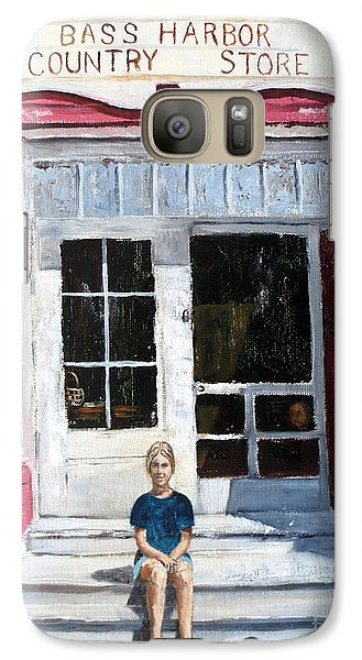 Galaxy Case featuring the painting Katie At Bass Harbor Maine by Lee Piper