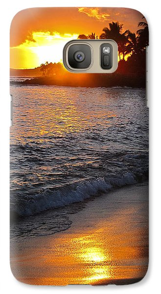 Galaxy Case featuring the photograph Kauai Sunset by Shane Kelly