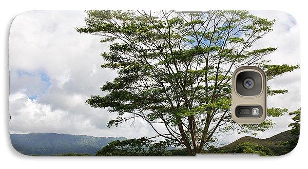 Galaxy Case featuring the photograph Kauai Umbrella Tree by Shane Kelly