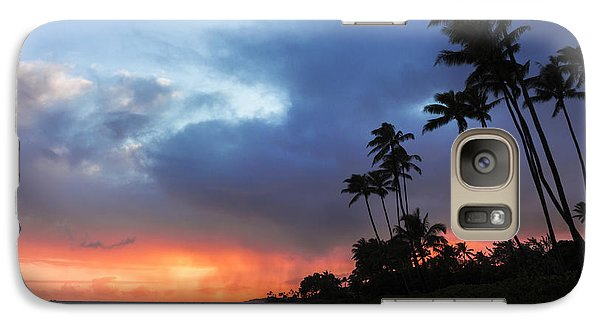 Galaxy Case featuring the photograph Kawaikui Sunset 2 by Leigh Anne Meeks
