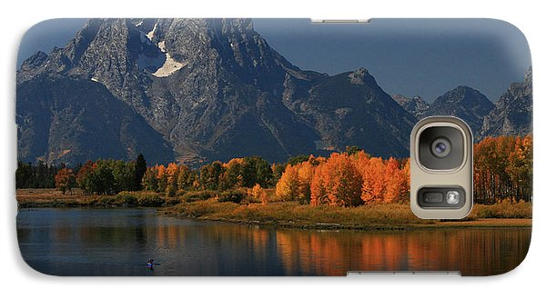 Galaxy Case featuring the photograph Kayak At Oxbow Bend by Clare VanderVeen