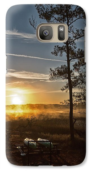 Galaxy Case featuring the photograph Kayak Morning by Margaret Palmer