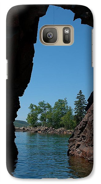 Galaxy Case featuring the photograph Kayaking Through The Arch by Sandra Updyke
