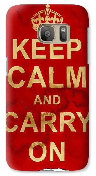 Galaxy Case featuring the digital art Keep Calm And Carry On  by Nik Helbig