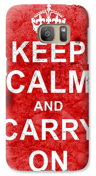 Galaxy Case featuring the digital art Keep Calm Poster Torn by Nik Helbig