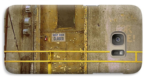 Galaxy Case featuring the photograph Keep Door Closed by Joseph Skompski