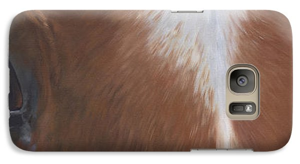 Galaxy Case featuring the painting Keeper's Eyes by Alecia Underhill