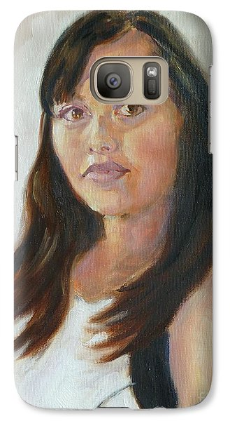 Galaxy Case featuring the painting Keila by Sally Simon