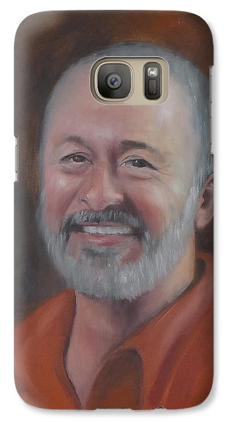 Galaxy Case featuring the painting Keith by Carol Berning