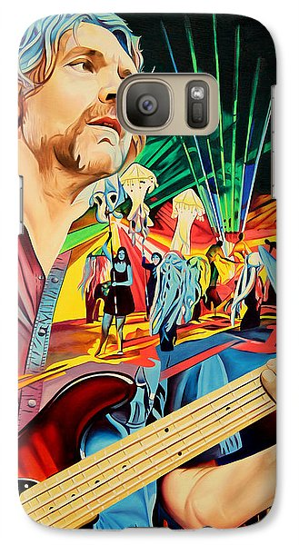 Galaxy Case featuring the painting Keith Moseley At Horning's Hideout by Joshua Morton