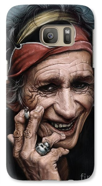 Keith Richards Galaxy Case by Andre Koekemoer