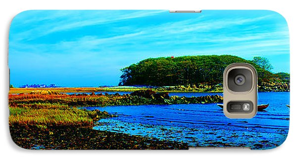 Galaxy Case featuring the photograph Kennepunkport Vaughn Island  by Tom Jelen