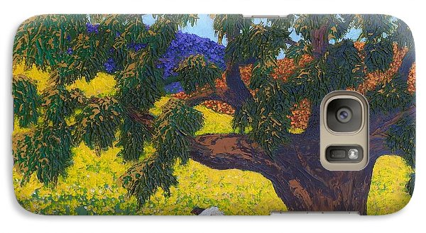 Galaxy Case featuring the painting Kern County Cow by Katherine Young-Beck
