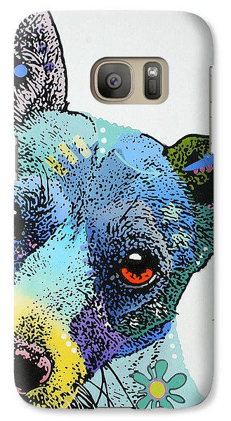 Galaxy Case featuring the painting Jack by Luis Ludzska