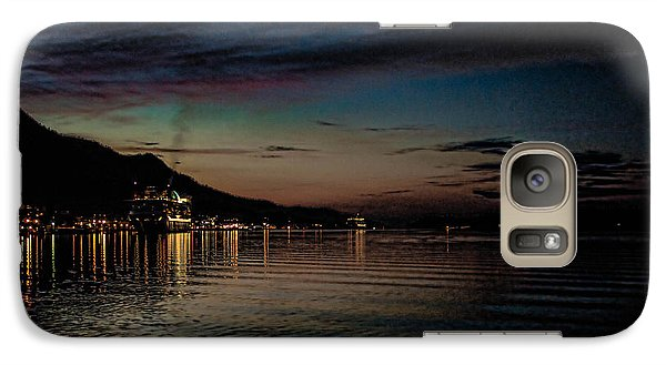 Galaxy Case featuring the photograph Ketchikan Sunrise With Ships by Timothy Latta