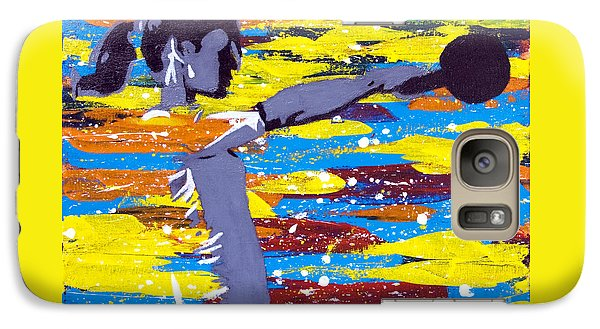 Galaxy Case featuring the painting Kettlebell by Denise Deiloh