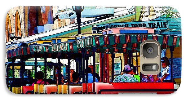 Galaxy Case featuring the photograph Key West Conch Train by Pamela Blizzard