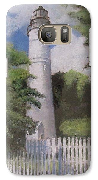 Galaxy Case featuring the painting Key West Lighthouse by Melinda Saminski
