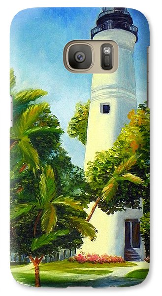 Galaxy Case featuring the painting Key West Lighthouse by Shelia Kempf