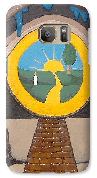Galaxy Case featuring the painting Keyhole by Steve  Hester