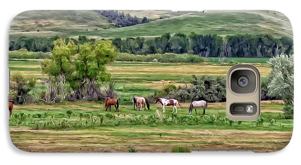 Galaxy Case featuring the painting K G Ranch by Michael Pickett