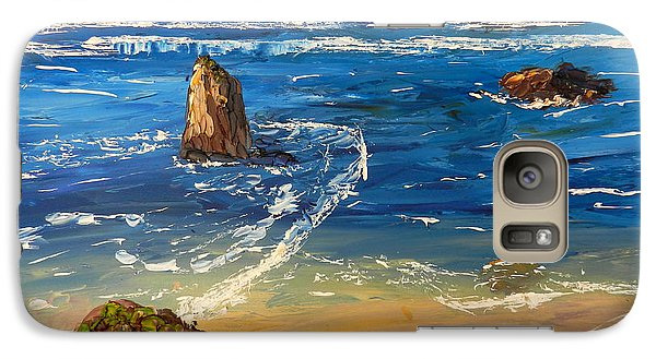 Galaxy Case featuring the painting Kiama Beach by Pamela  Meredith