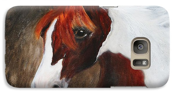 Galaxy Case featuring the painting Kidden by Barbie Batson