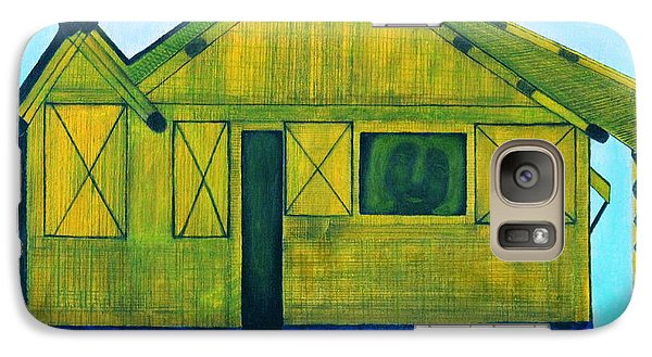 Galaxy Case featuring the painting Kiddie House by Lorna Maza